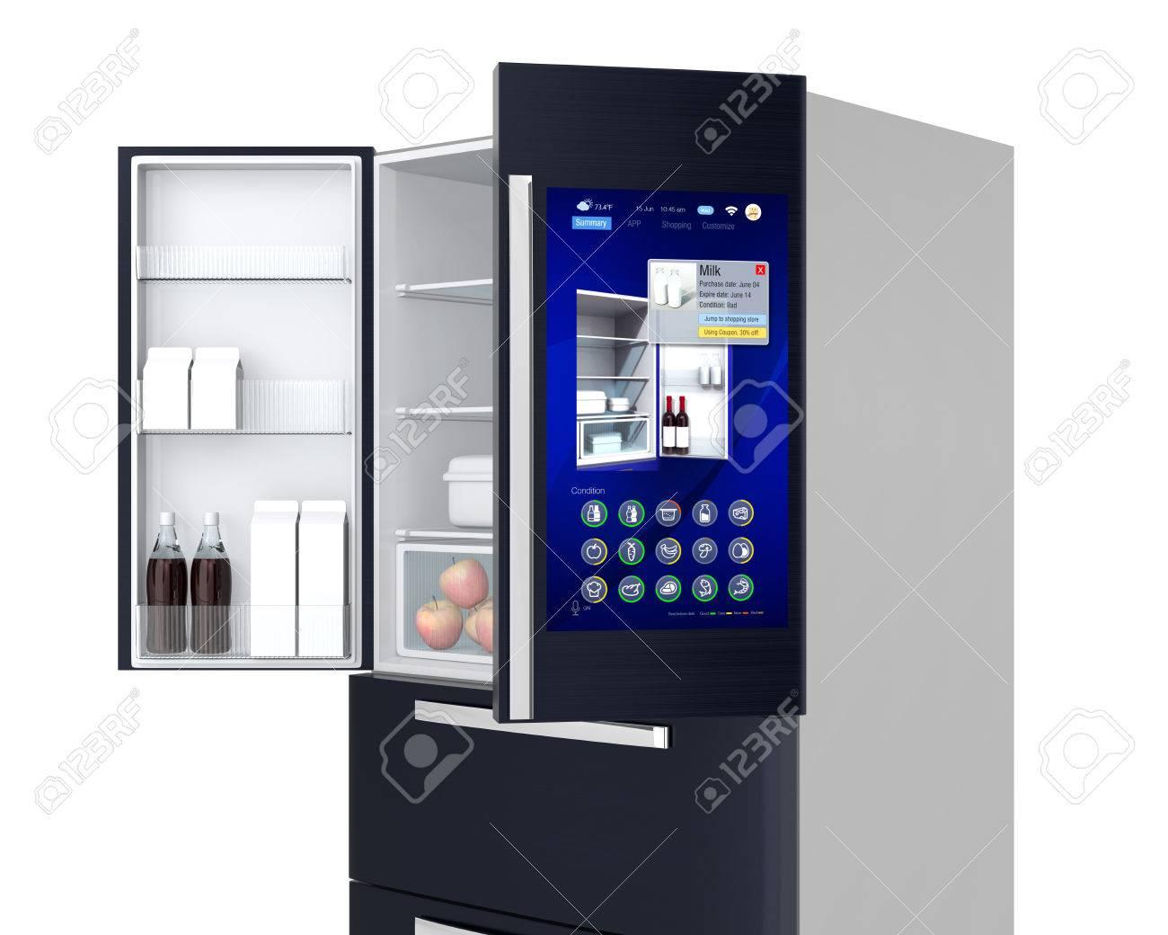 Kühlschrank Neu : Smart kühlschrank konzept der benutzer kann nahrung zu verwalten