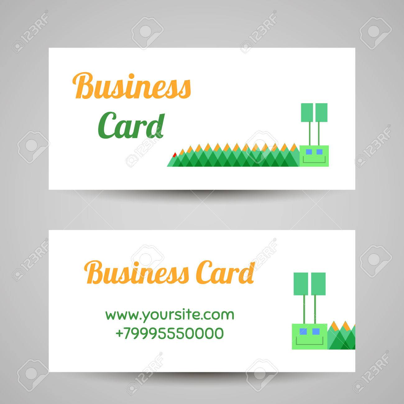 Business card template with funny caterpillar vector illustration business card template with funny caterpillar vector illustration stock vector 42700802 cheaphphosting Images