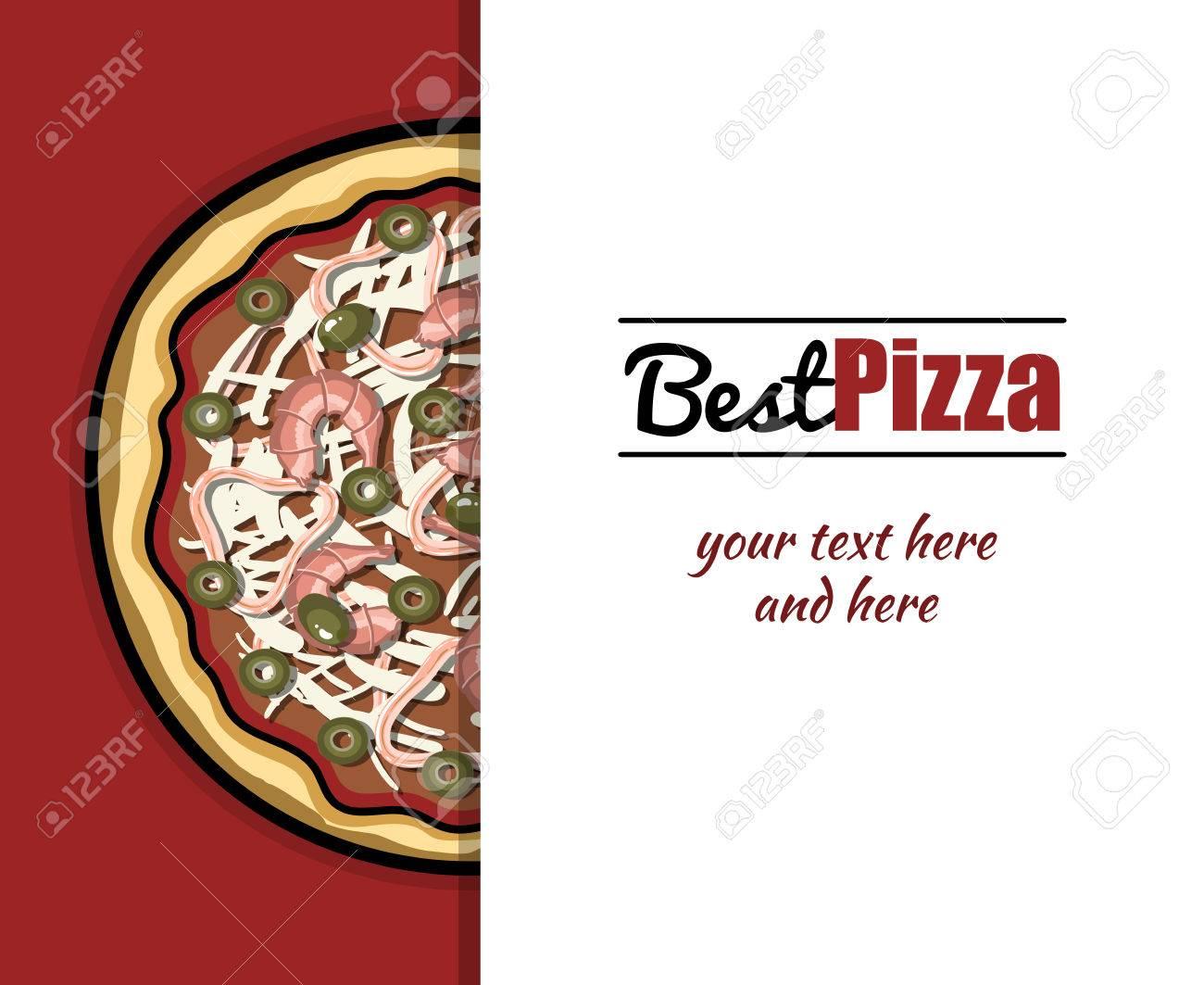 Plantilla De Menú Con Dibujado A Mano Pizza Para Pizzeria O ...