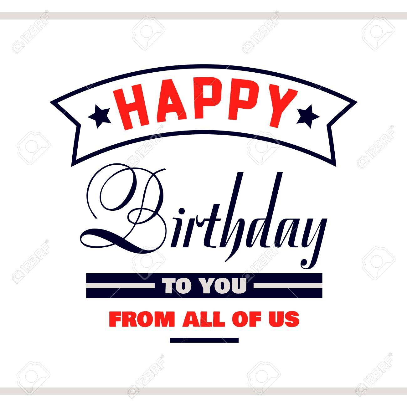 label with congratulation on white background happy birthday rh 123rf com all sectors of the economy all sectors of society
