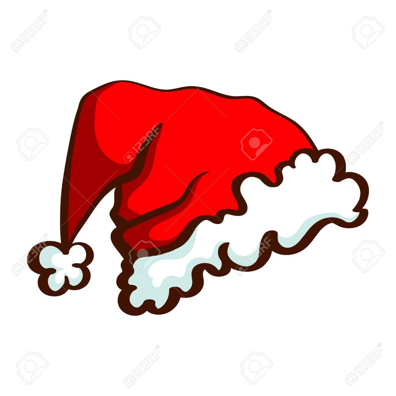Vettoriale Cappello Di Babbo Natale Del Fumetto Isolato Su