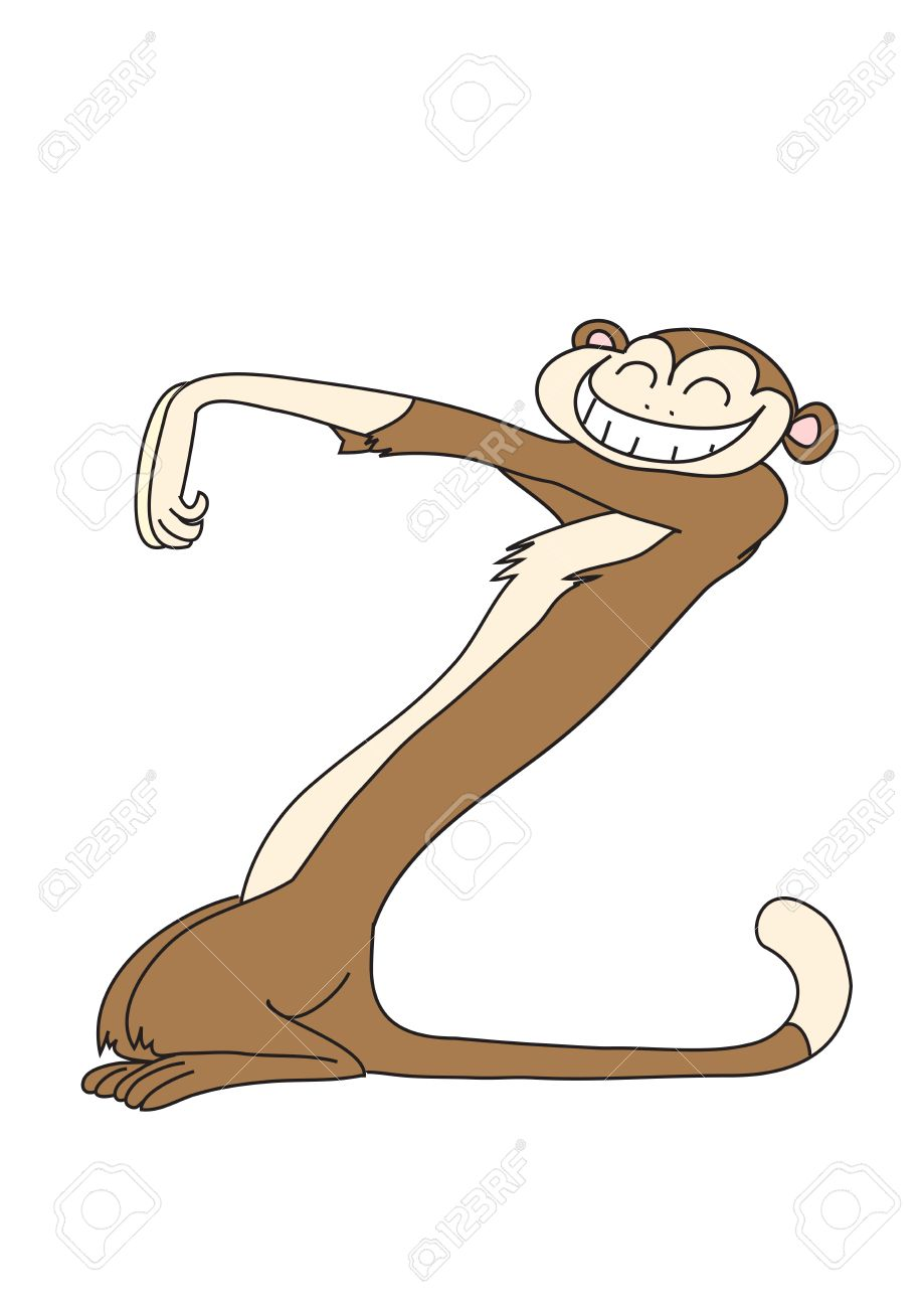 monkey in the form of the letter Z Stock Vector - 5745135