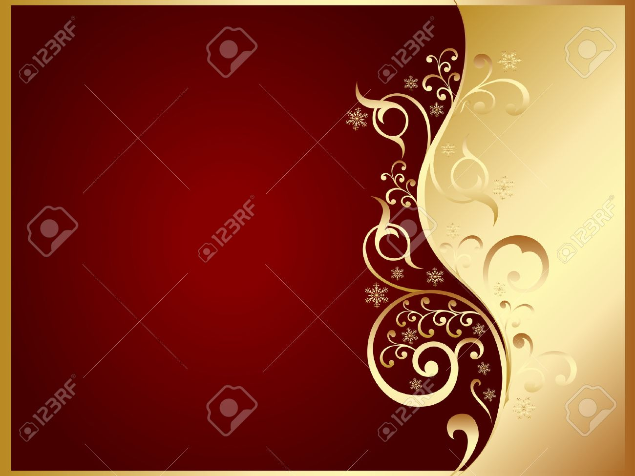 gold and red invitation card Stock Vector - 6011792