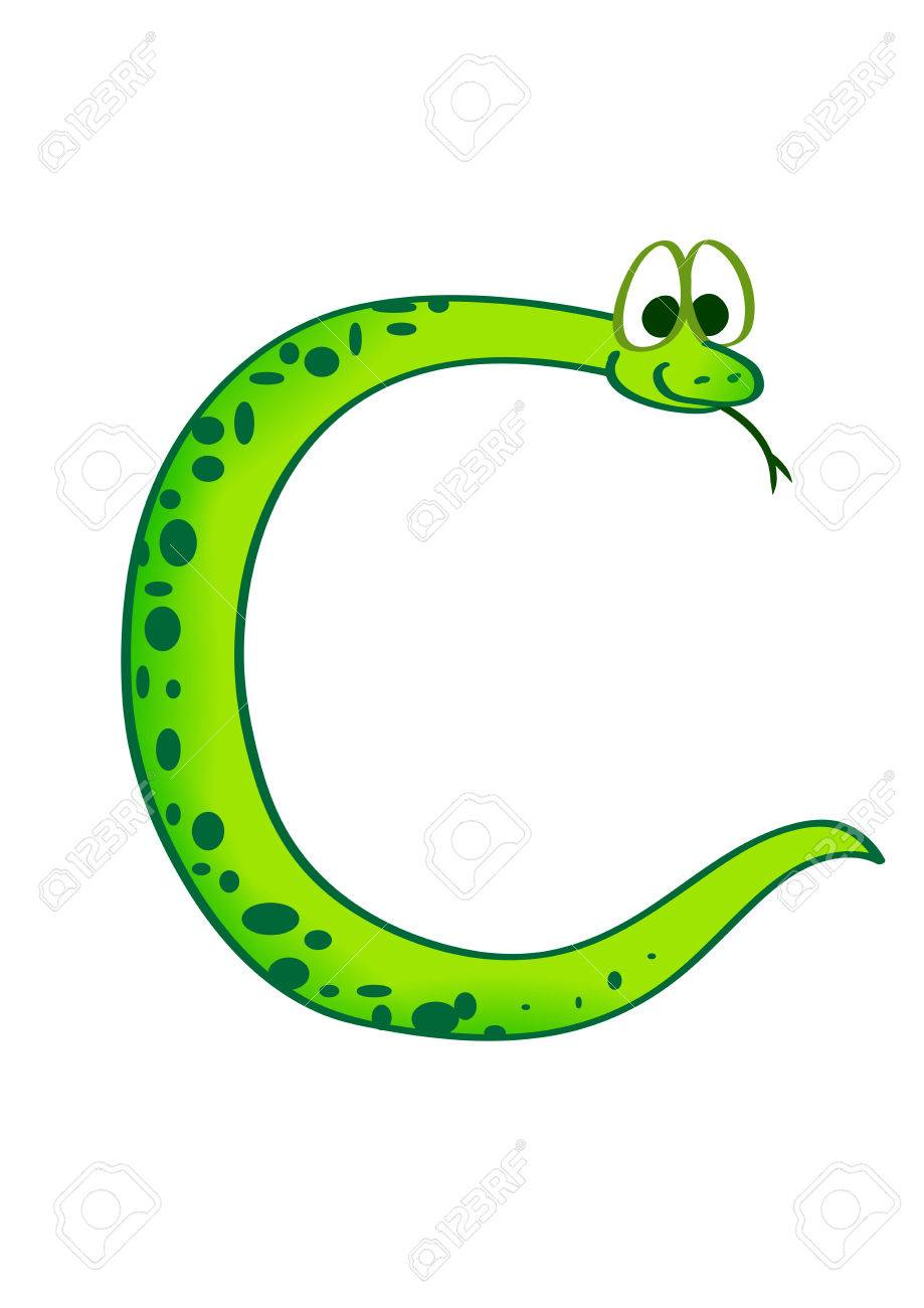 Snake In The Form Of The Letter C Royalty Free Cliparts Vectors And Stock Illustration Image 6273123