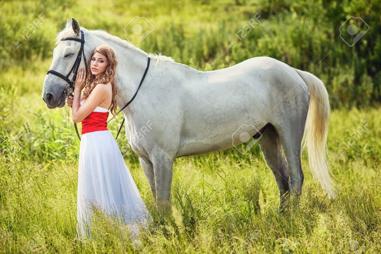 Horse Wearing White Dress