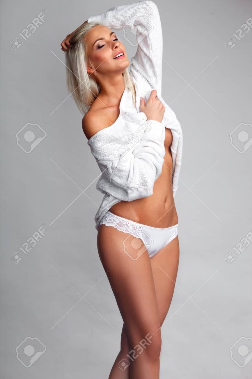 Sexy blonde panties