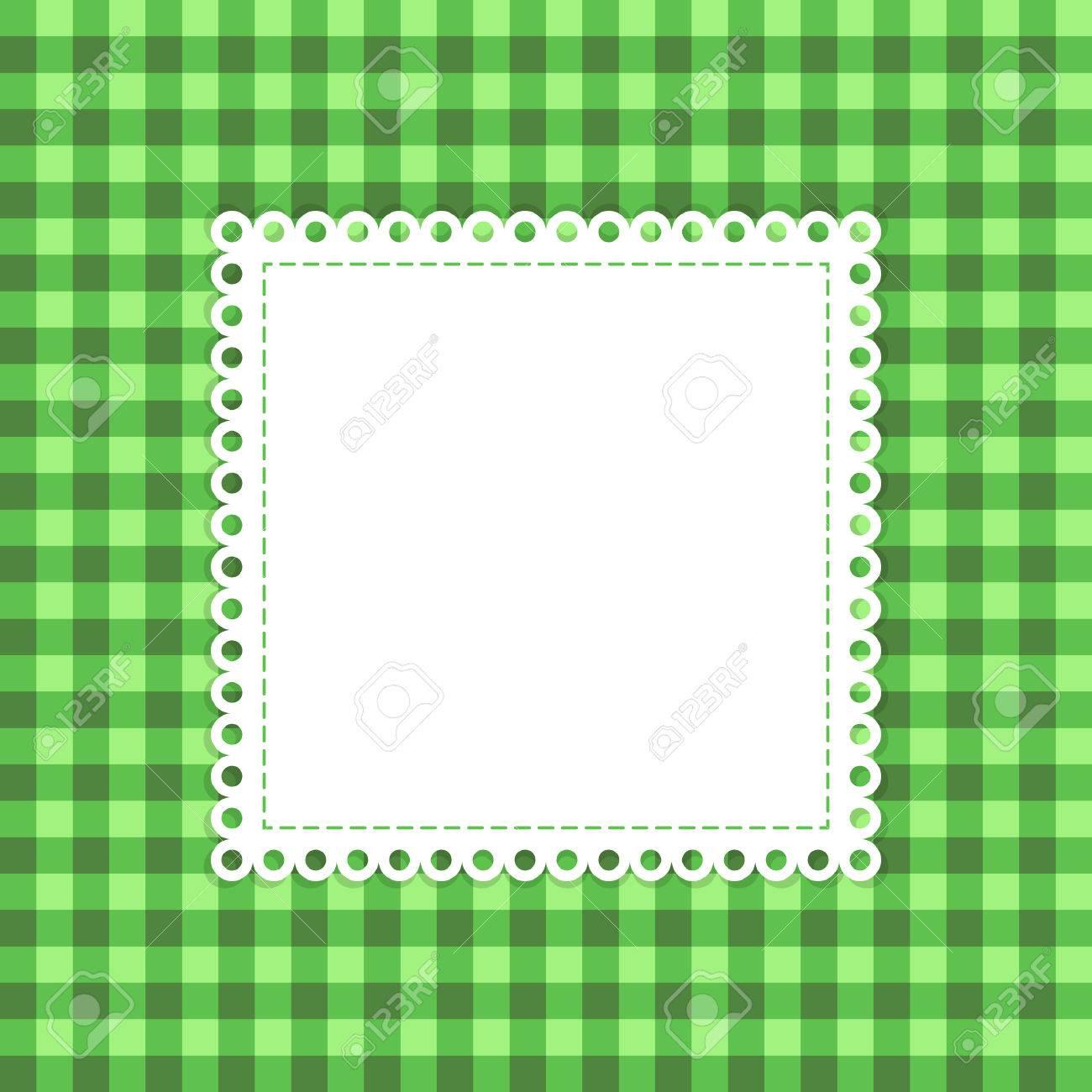 Auf Grün-Vektor-Vorlage. Grüner Hintergrund Mit überlappenden ...