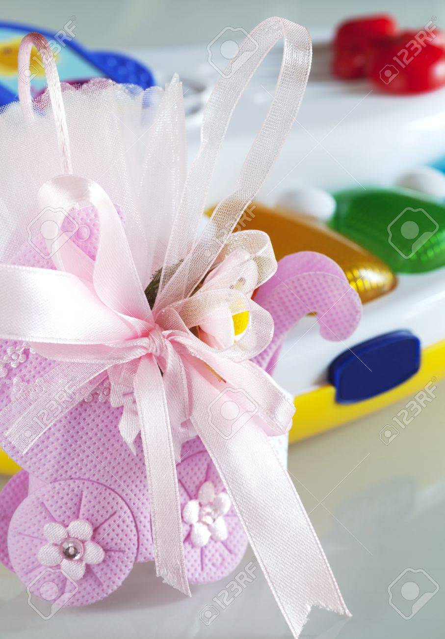 Baptism box of sweet Stock Photo - 10635592