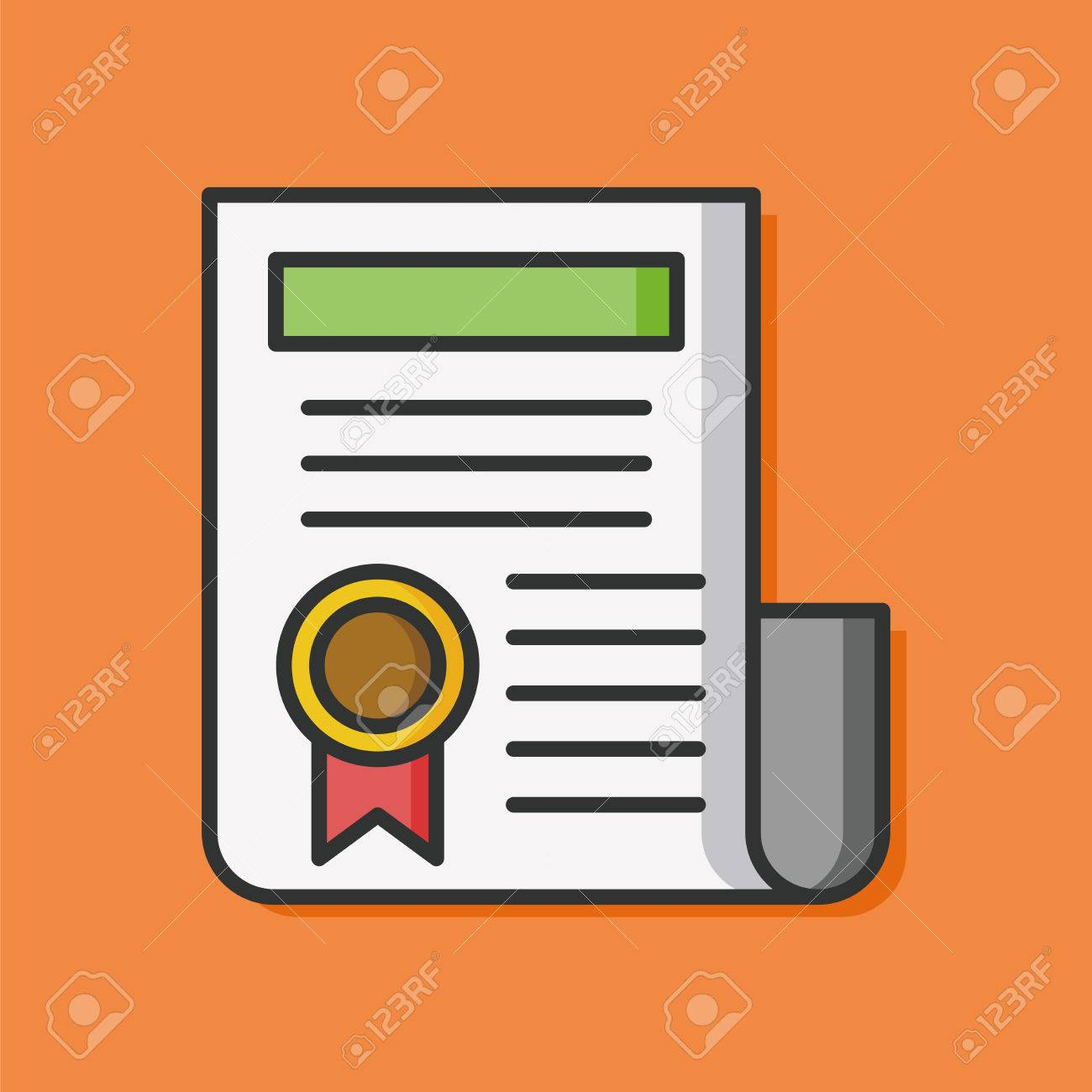 award certificate paper icon royalty free cliparts vectors and