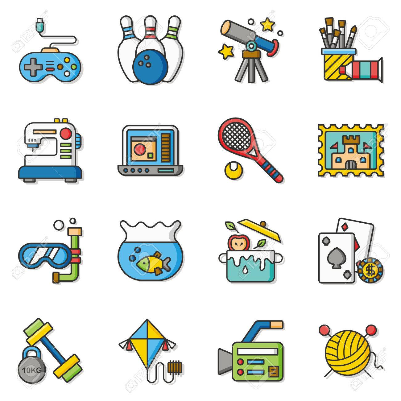 Icon Set Hobby Vector Royalty Free Cliparts Vectors And Stock Illustration Image 57651582