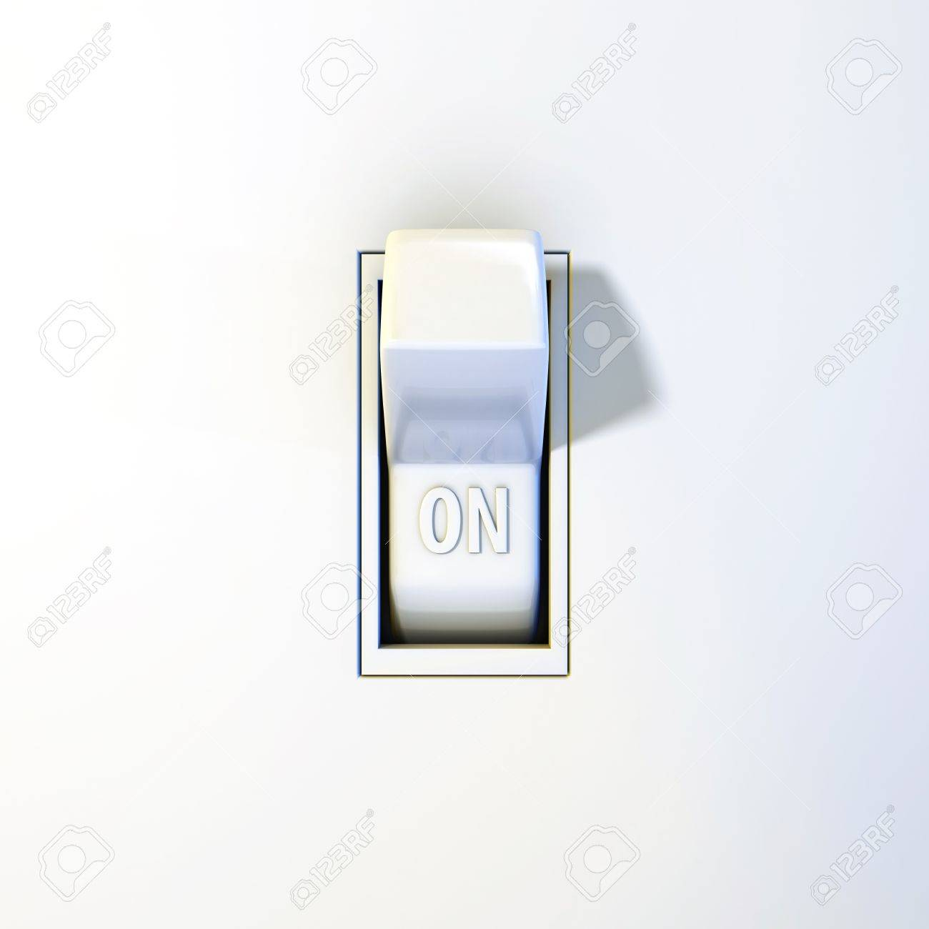 Close up of a wall light switch in the on position stock photo close up of a wall light switch in the on position stock photo 18798116 aloadofball Image collections