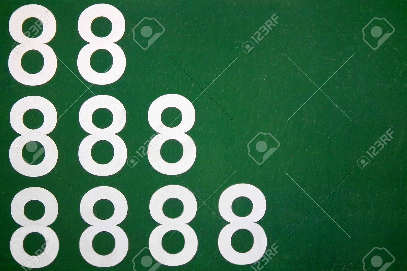 The China s lucky 8 Even number with Fortune Concept