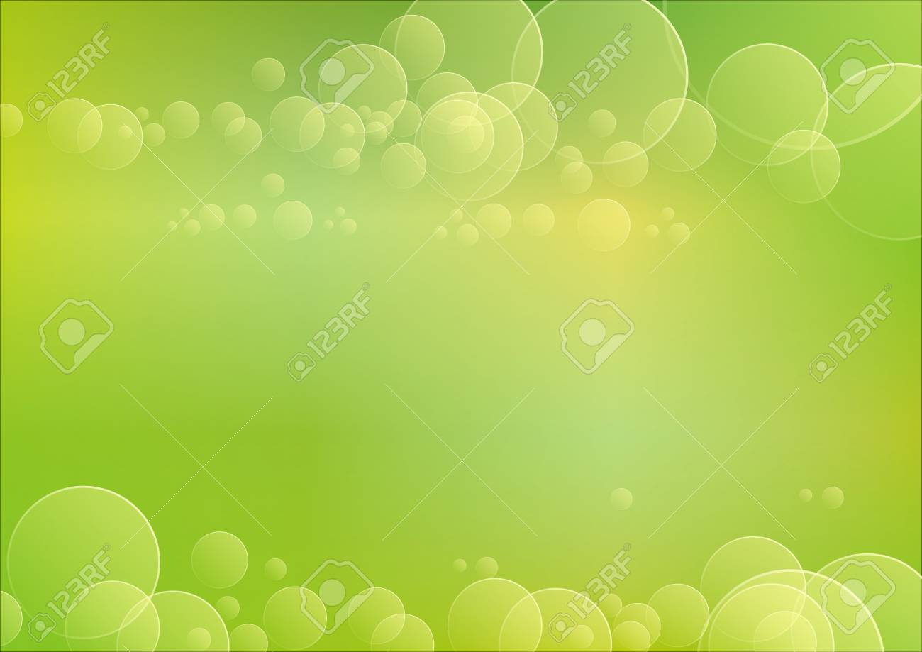 bokeh with green background Stock Photo - 17170220