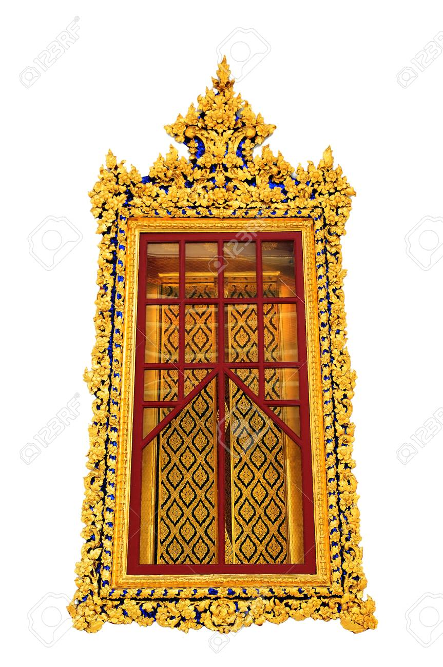 Contemporary art window temple Thailand Stock Photo - 17605964