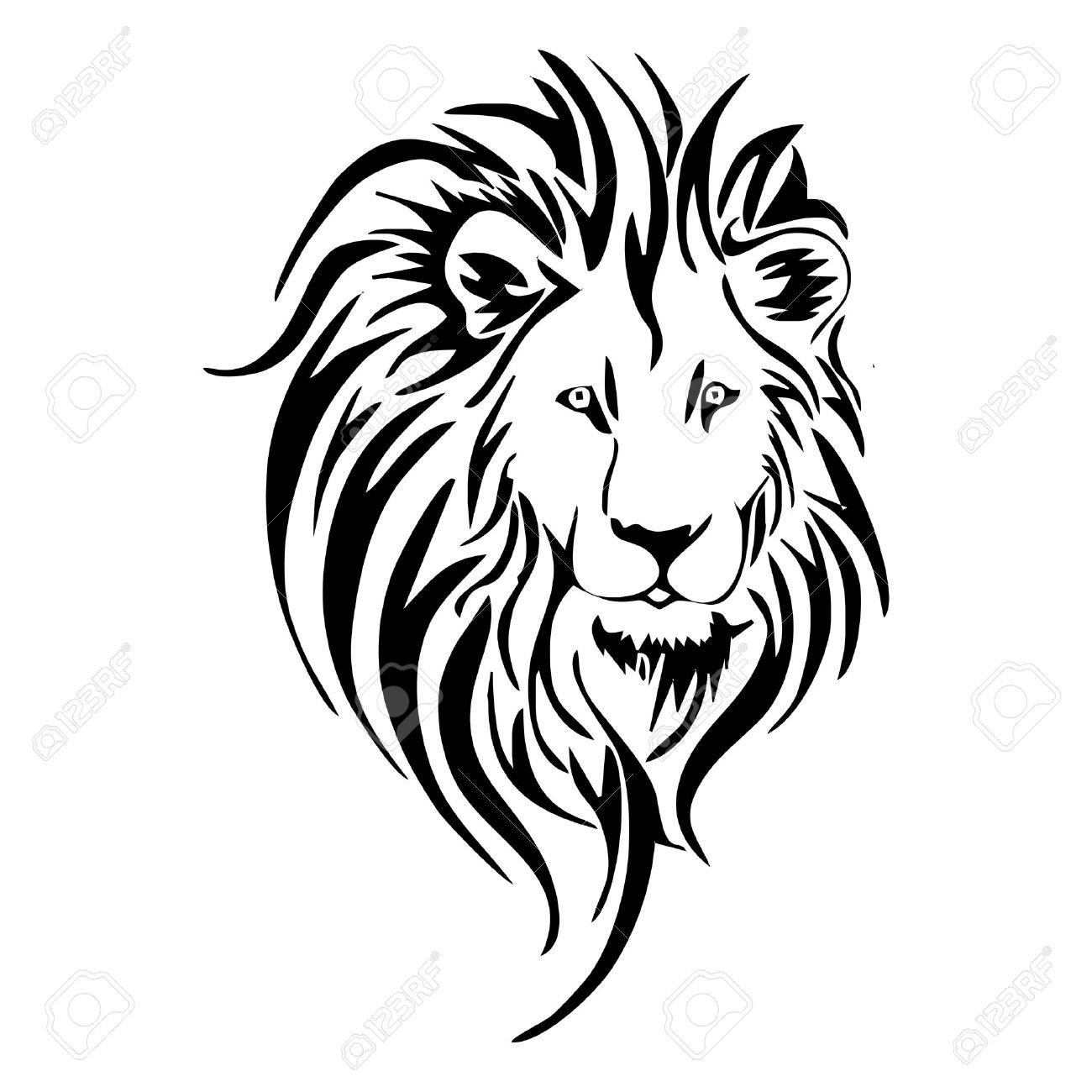 Tete De Lion Tatouage Clip Art Libres De Droits Vecteurs Et