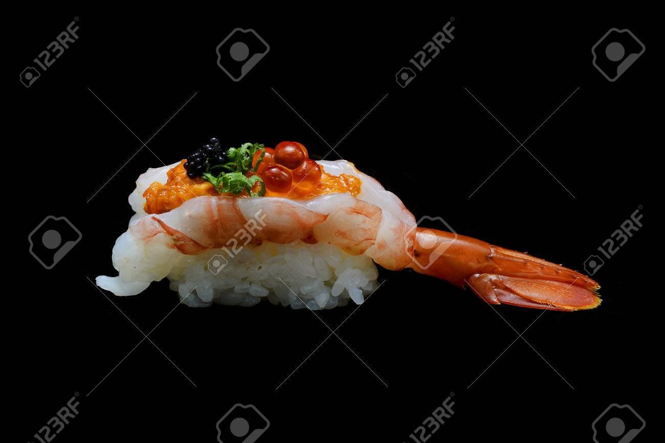 Botan Ebi Sushi Or Spacial Premium King Shrimp Sushi Mixed By