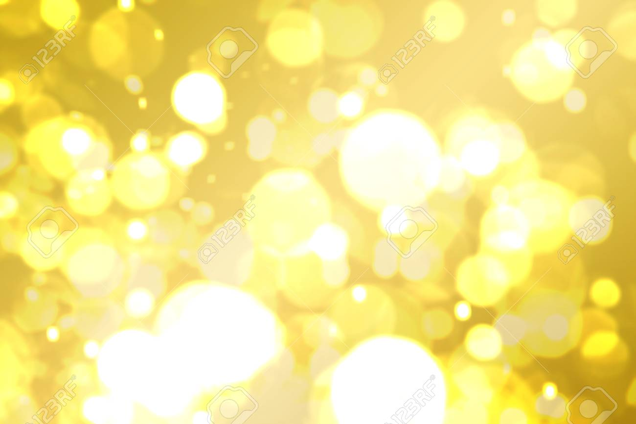 Yellow Brown Golden Glitter Bokeh Abstract Blurred Background Stock Photo Picture And Royalty Free Image Image 120812862