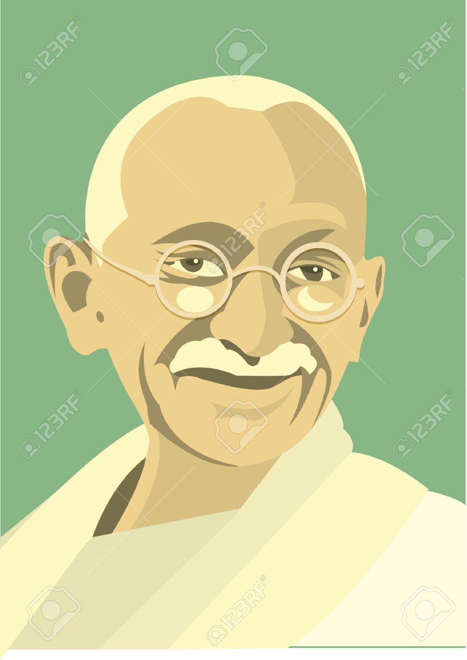 マハトマ ガンジーのイラスト素材ベクタ Image 11138808