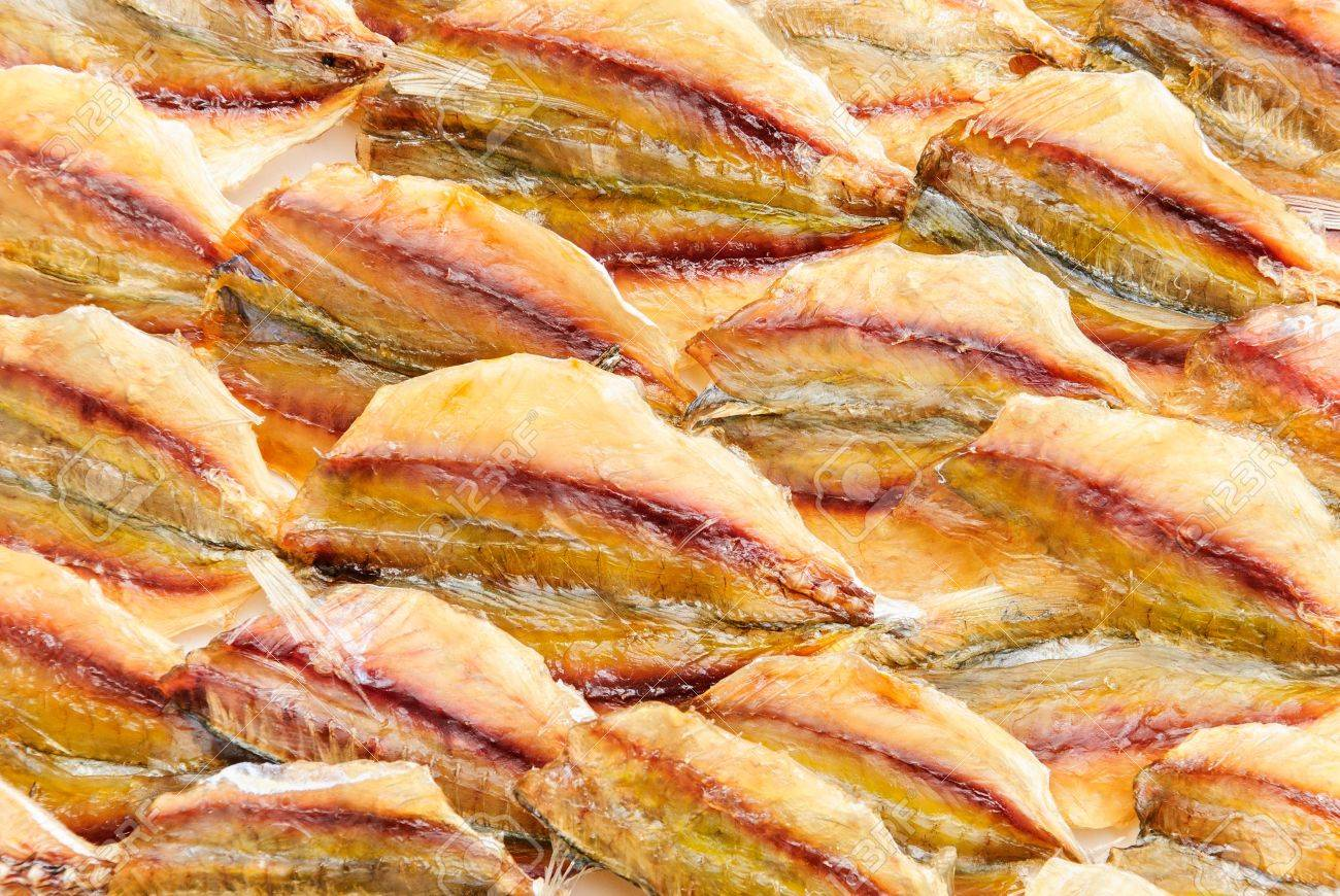 one dry fish in the food that has hight calcium Stock Photo - 17463271