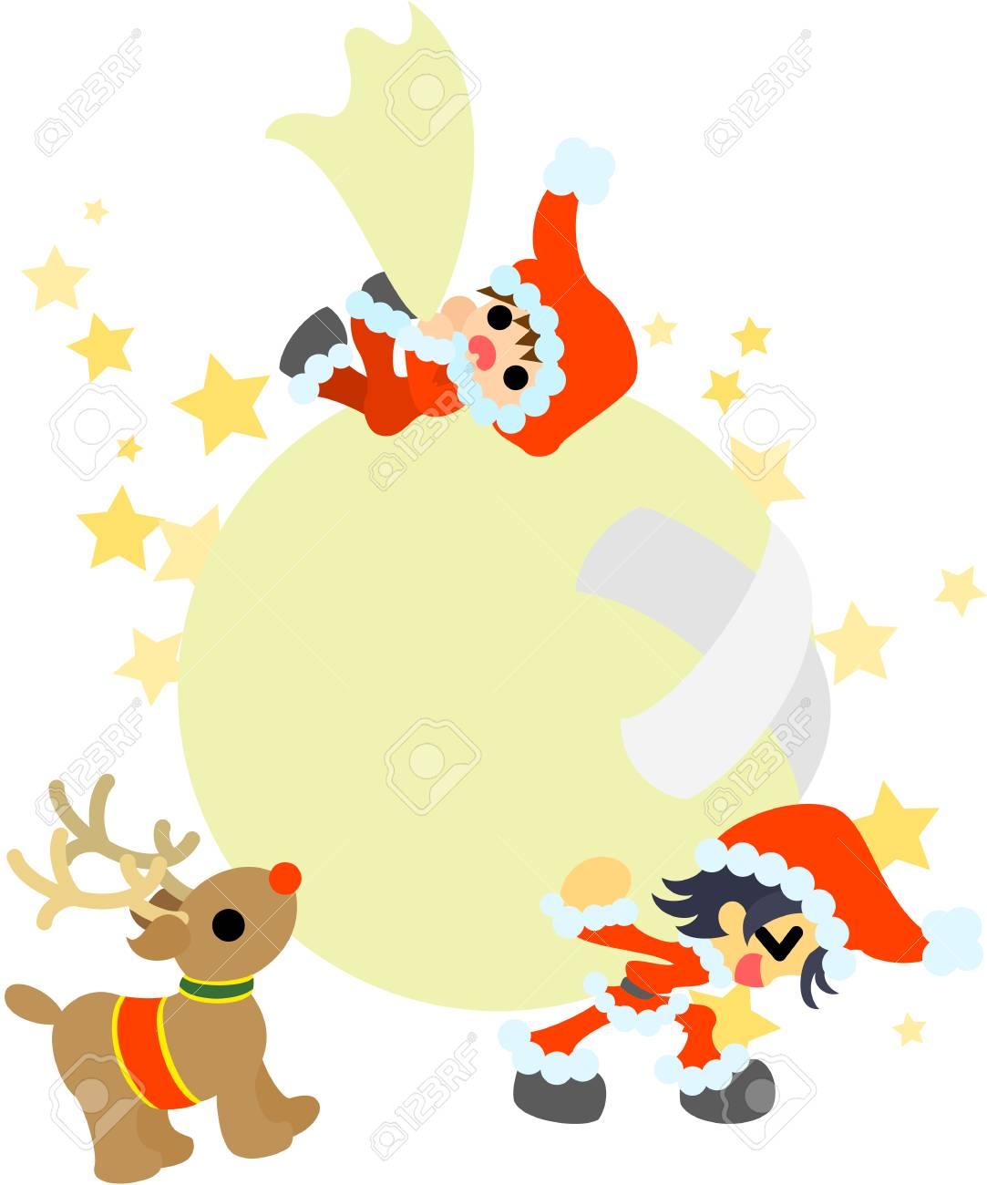 Foto Di Babbo Natale Per Bambini.I Bambini Che Hanno Fatto Figure Di Babbo Natale Detengono Il Big Bag Che E Ricco Di Regali Di Natale