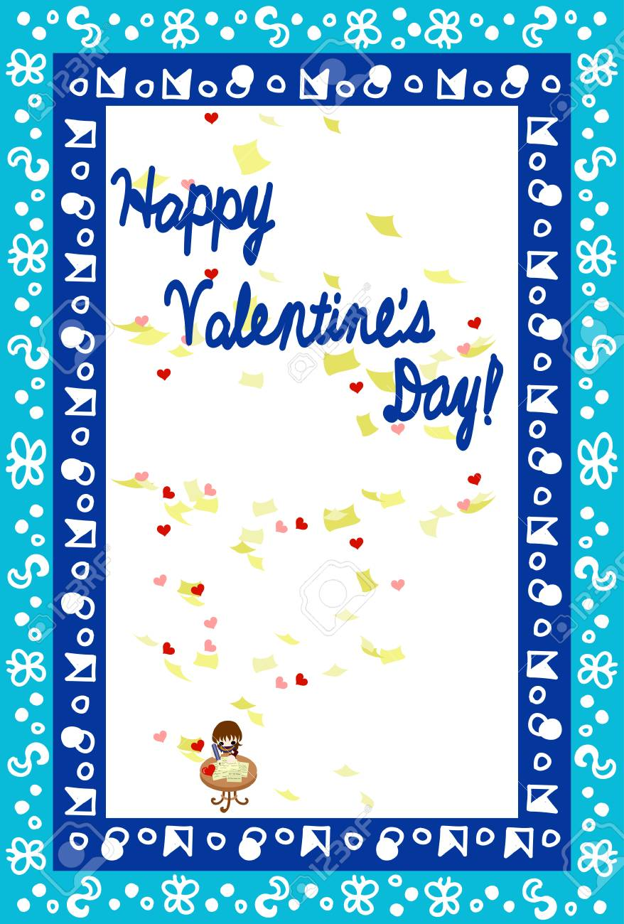 Greeting card of valentine day writing a letter royalty free greeting card of valentine day writing a letter stock vector 35030765 m4hsunfo