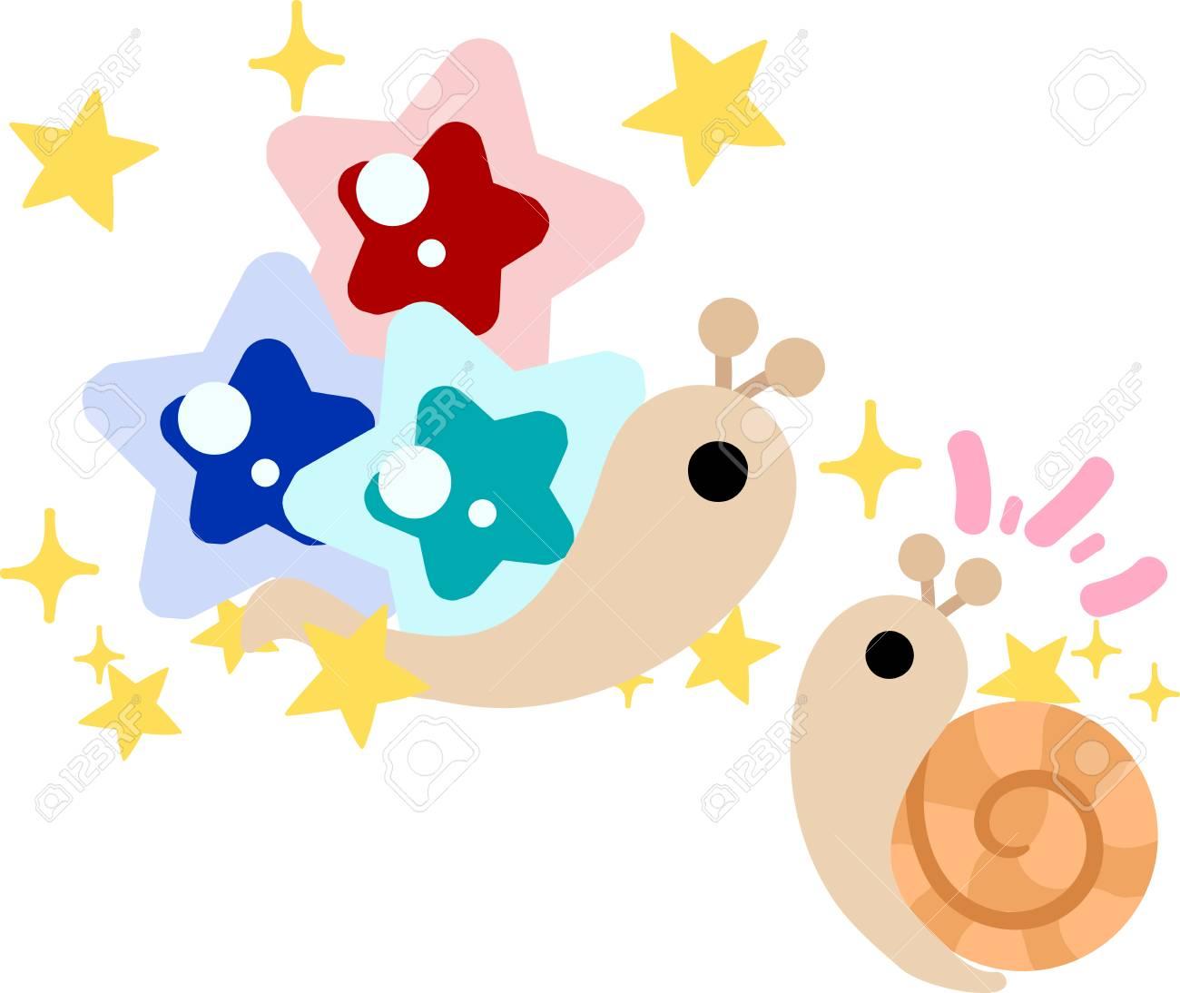 Mi Ilustración Original De Caracoles Y Estrellas Bonitas Joya