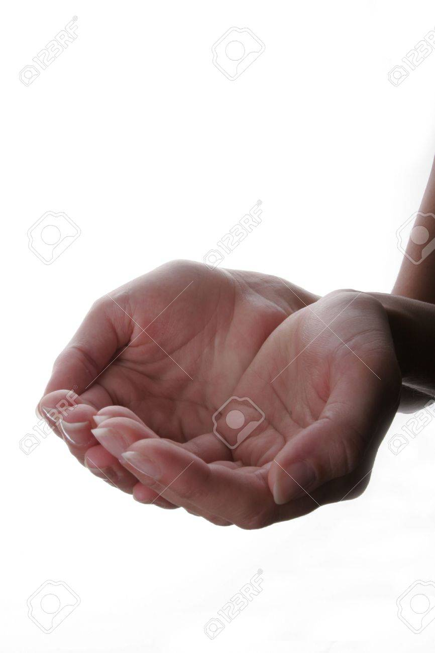 Hand extended in a cupped gesture Stock Photo - 895729