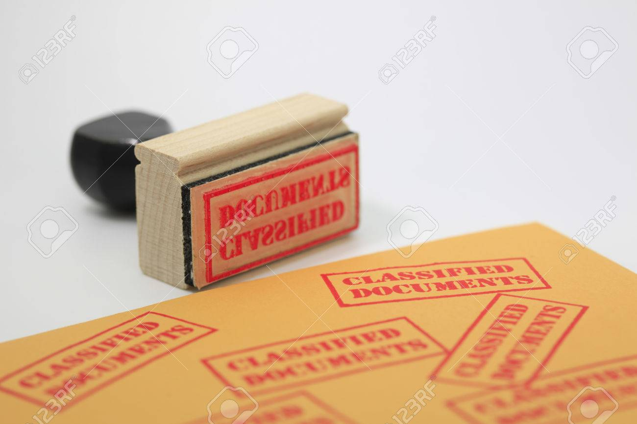 Classified Document Stamp Stock Photo - 23334062