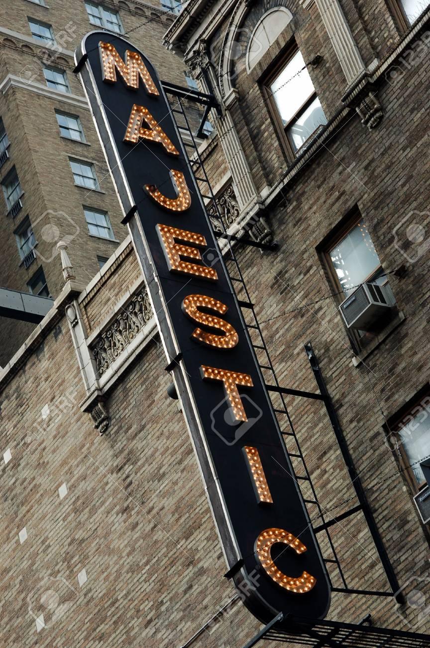 Majestic sign, New York Stock Photo - 1104760