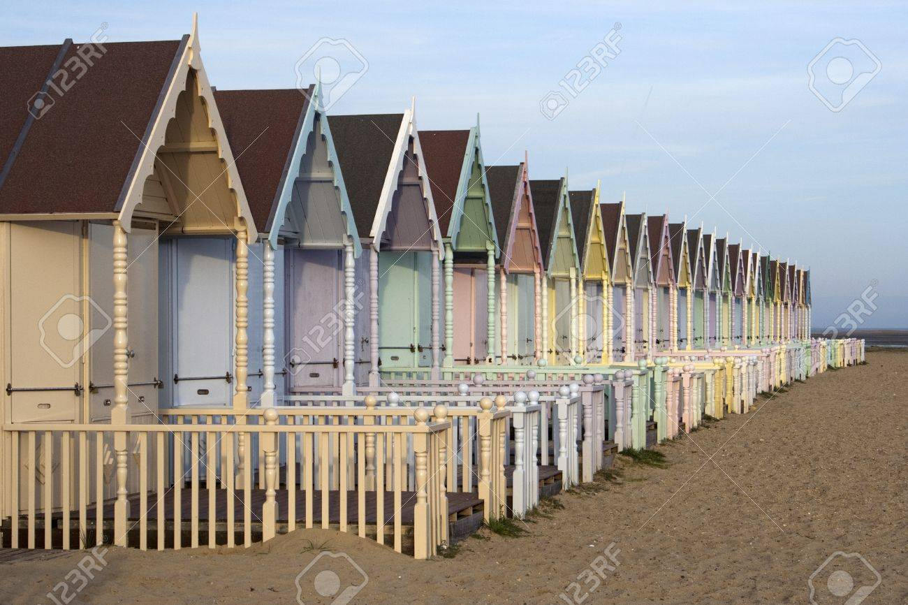 Beach Huts at West Mersea, Essex Stock Photo - 12986531