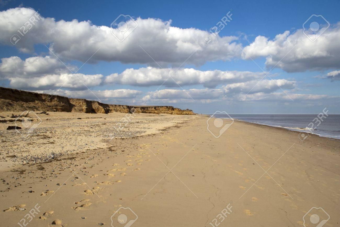 Coastal erosion at Benacre Beach in Suffolk Stock Photo - 12986535