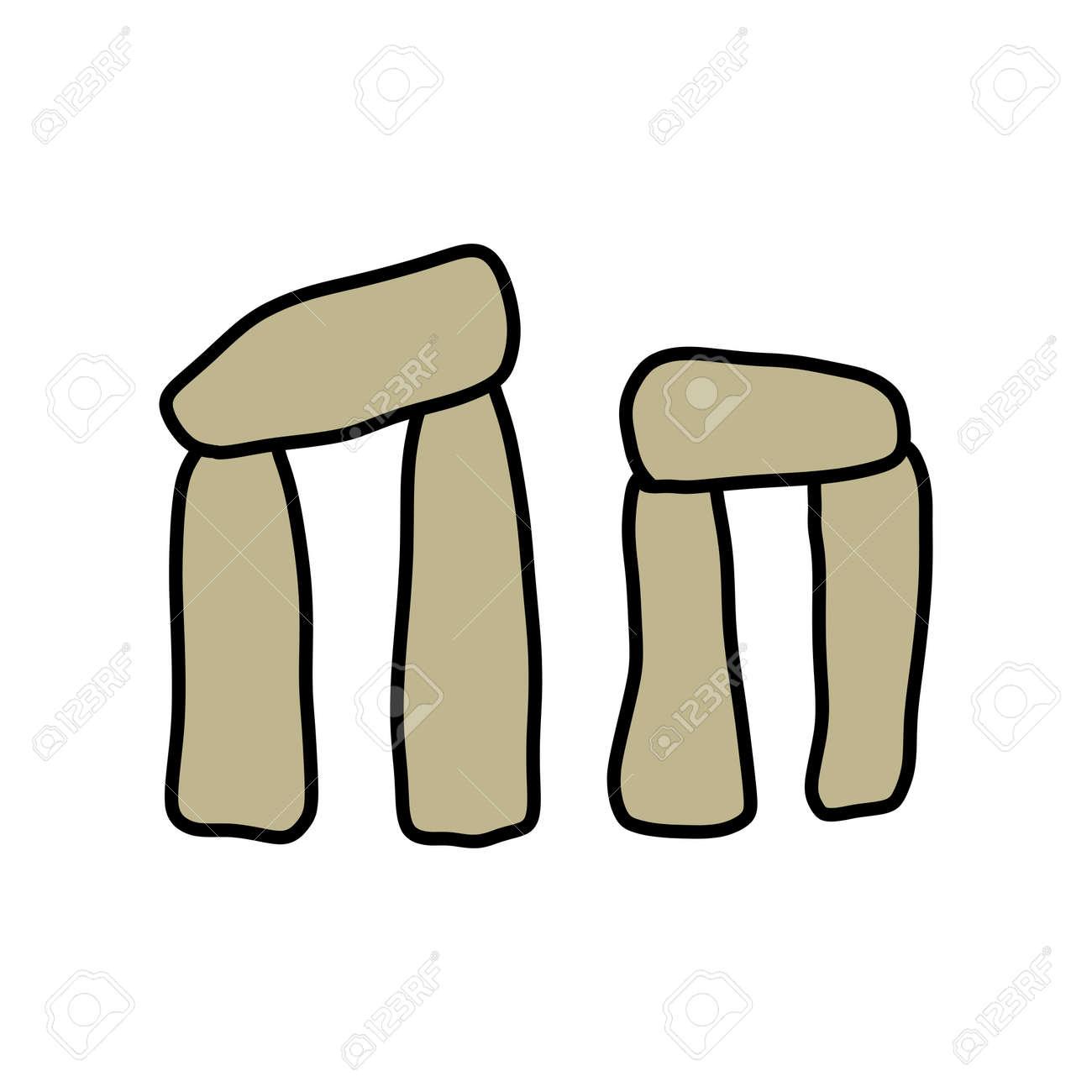 Stonehenge doodle icon, vector illustration - 170945355