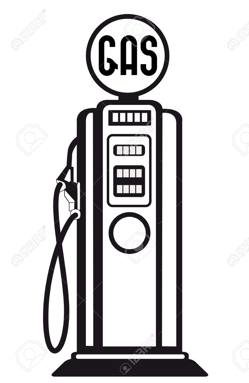 retro gasoline pump vector royalty free cliparts vectors and stock rh 123rf com gas pump clipart free gas station clipart black and white