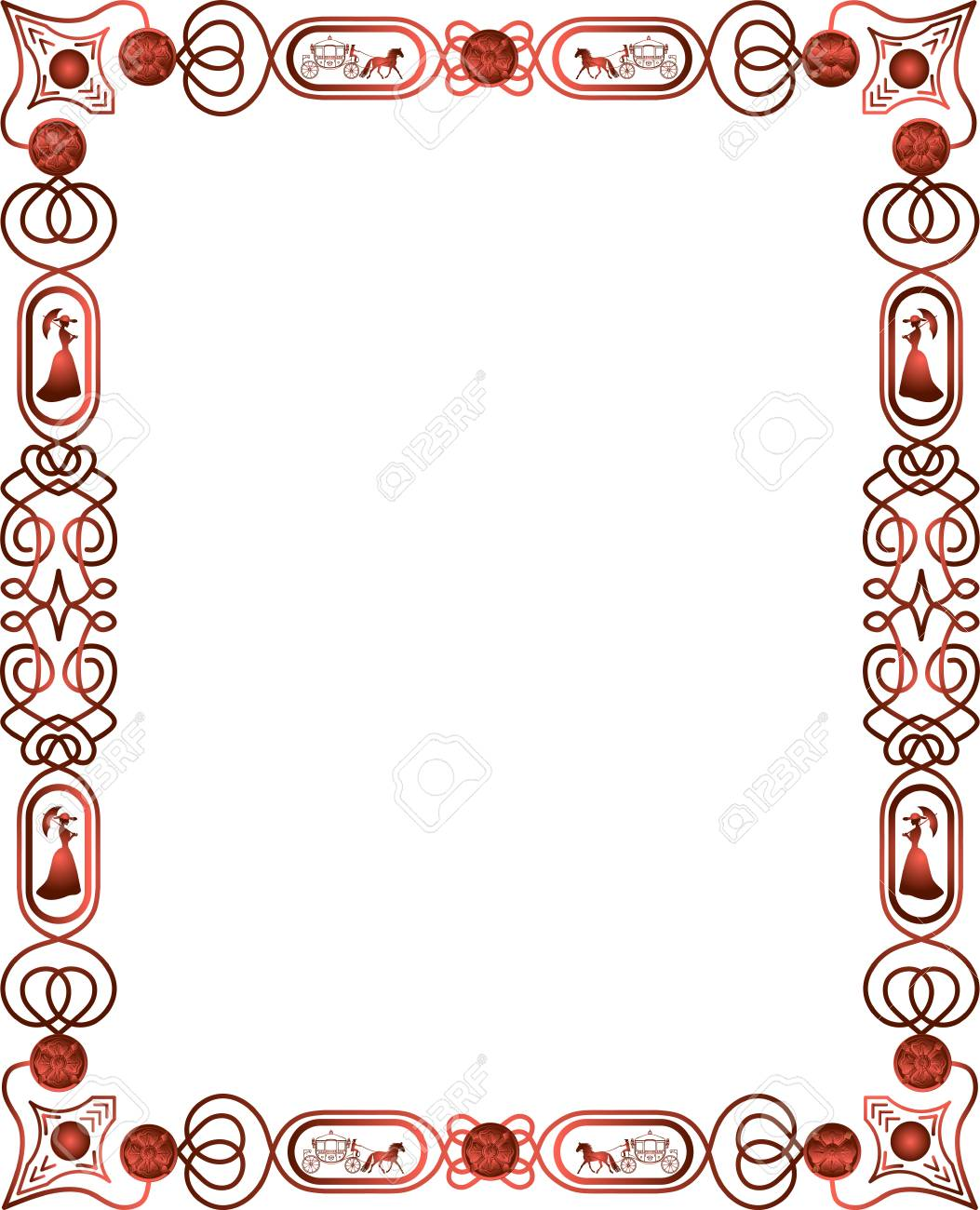 decorative vintage borders and frames vector royalty free cliparts
