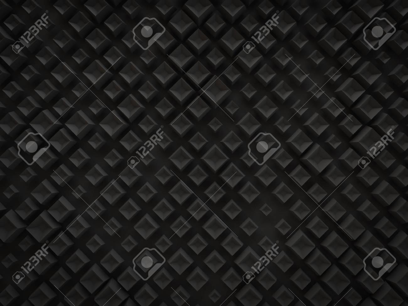 abstract 3d black small diamond cube box pattern technology stock