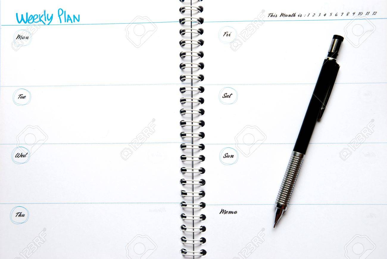 Organizer and Pencil - Business planning Stock Photo - 13246281