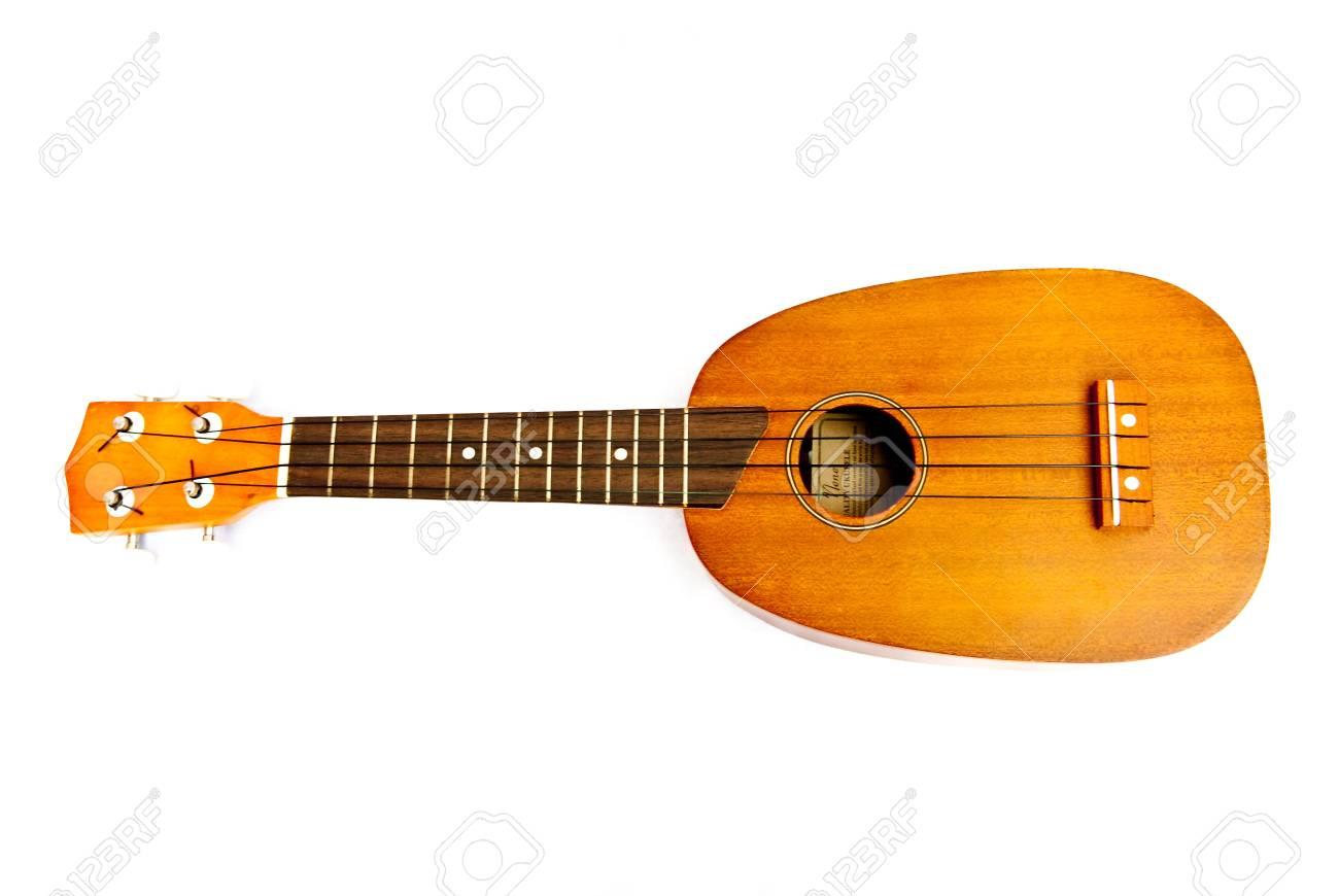 Ukulele guitar on white background Stock Photo - 13425037