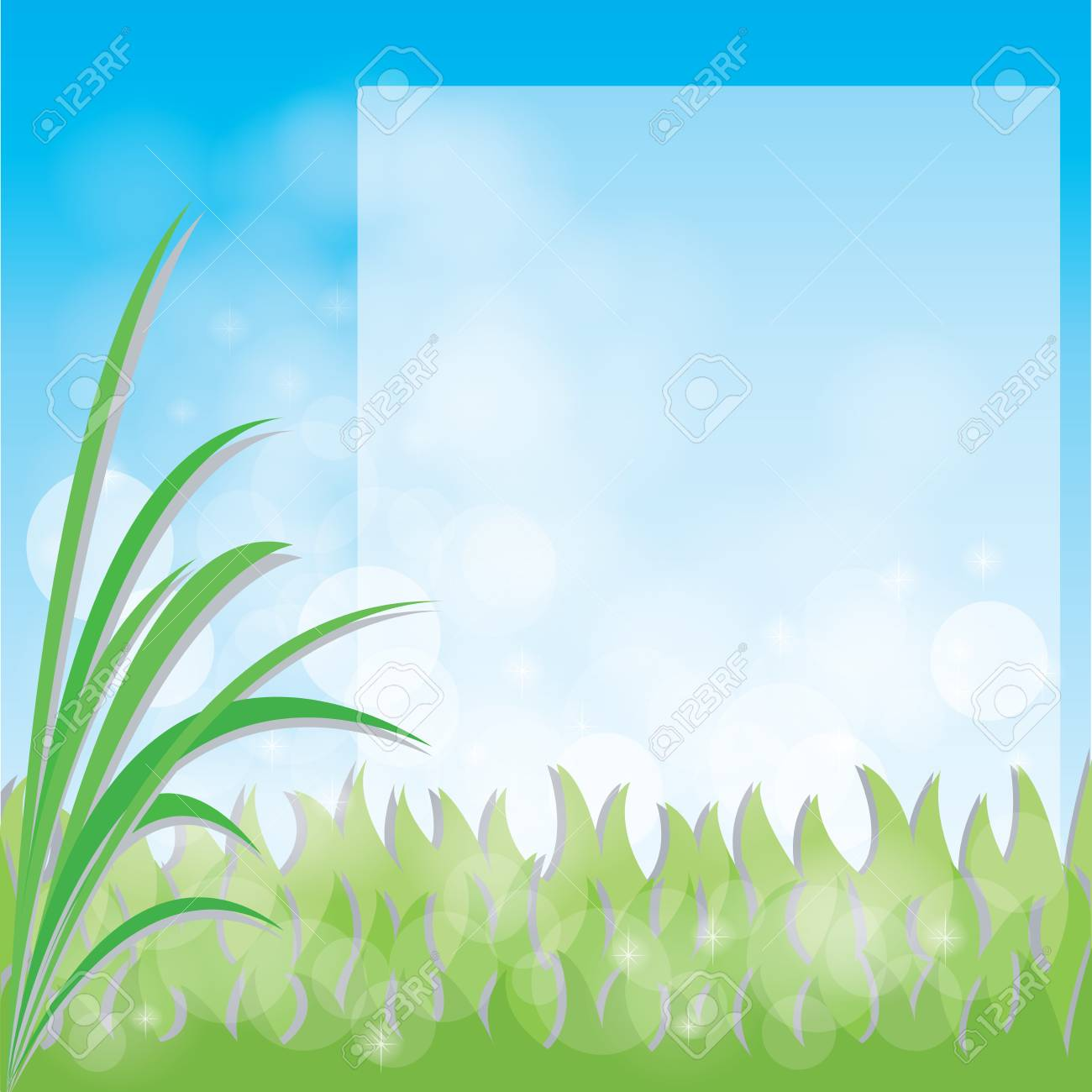 green grass with space for your text Stock Vector - 18375377
