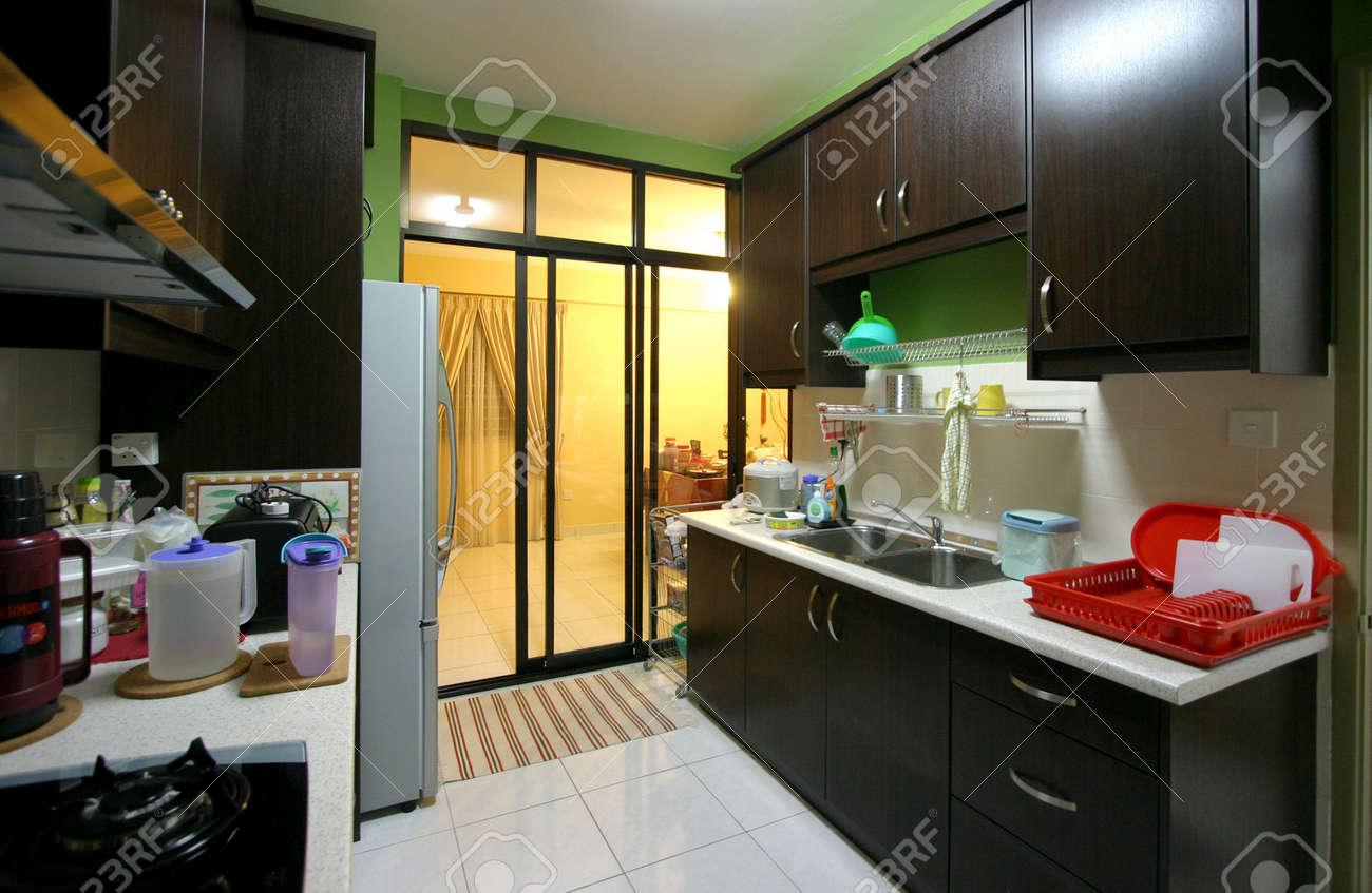 Intérieur de l\'appartement cuisine moderne