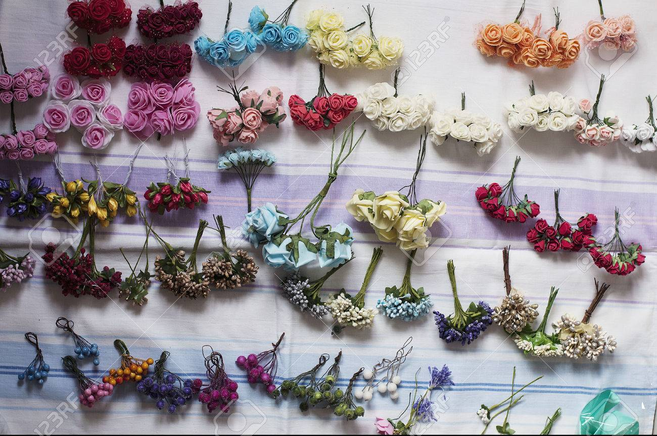 Hoop From Flowers Wreath With Colored Flowers Handmade Flowers