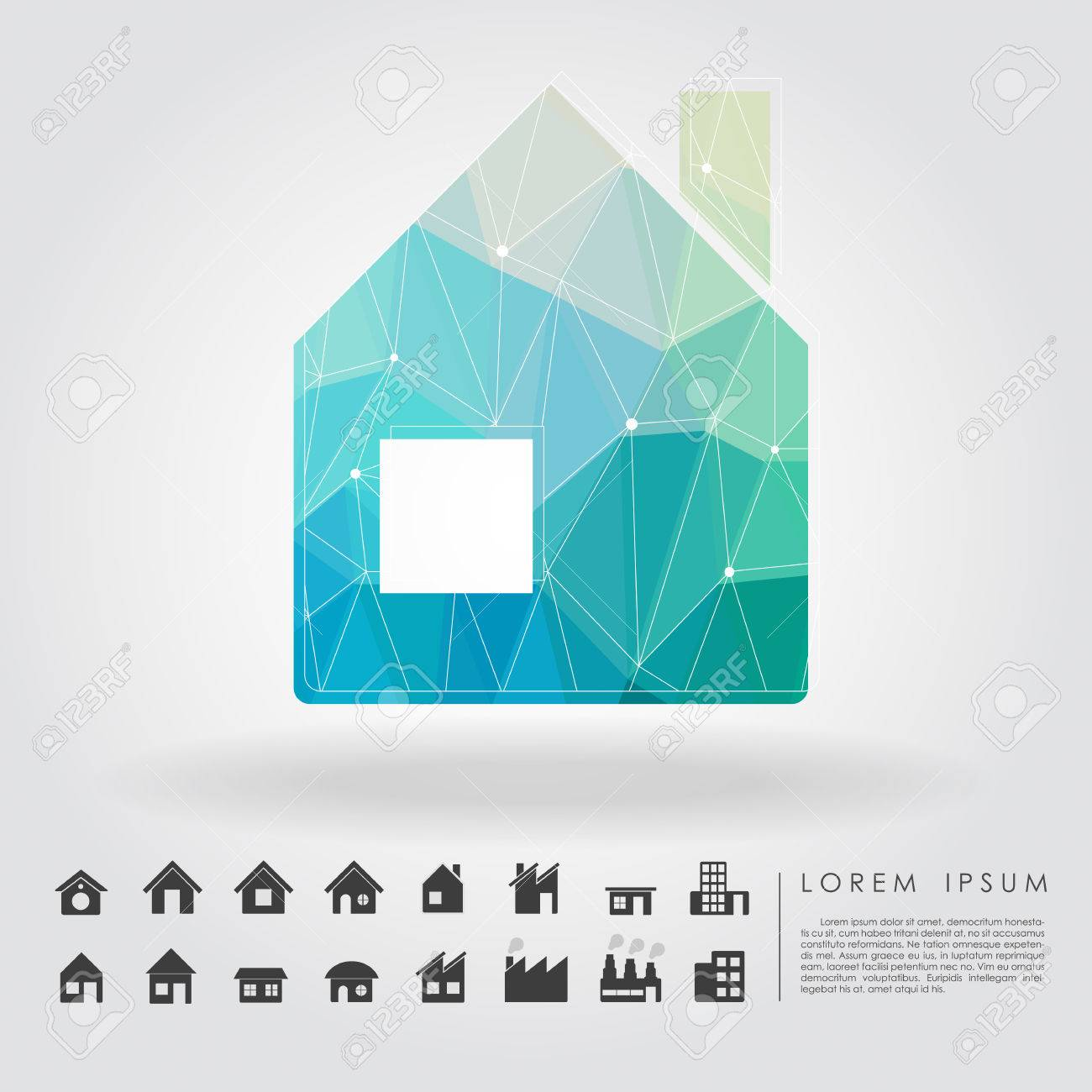 Polygon house symbol with building icon royalty free cliparts polygon house symbol with building icon stock vector 27247892 biocorpaavc Image collections