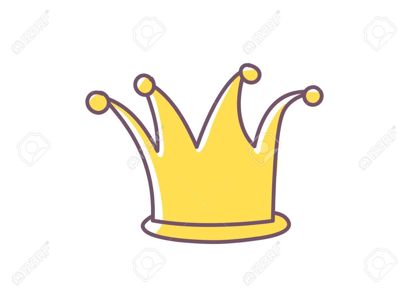 Golden Cartoon Doodle Illustration Funny King Queen Princess Royalty Free Cliparts Vectors And Stock Illustration Image 138091226 Here you can explore hq cartoon crown transparent illustrations, icons and clipart with filter setting like size, type, color etc. golden cartoon doodle illustration funny king queen princess