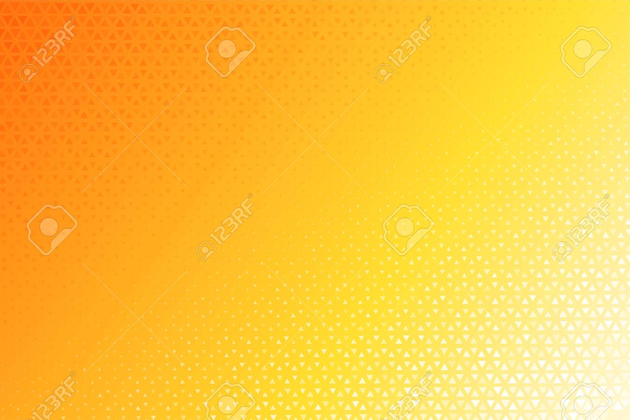 Triangle Halftone Pattern. Many yellow triangular backgrounds that look modern. - 141549399