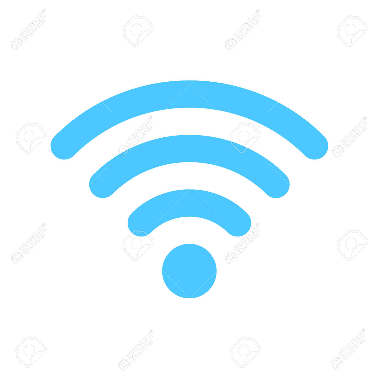 wifi icon. Wireless symbol vector for internet connection from router broadcasting. - 169442870