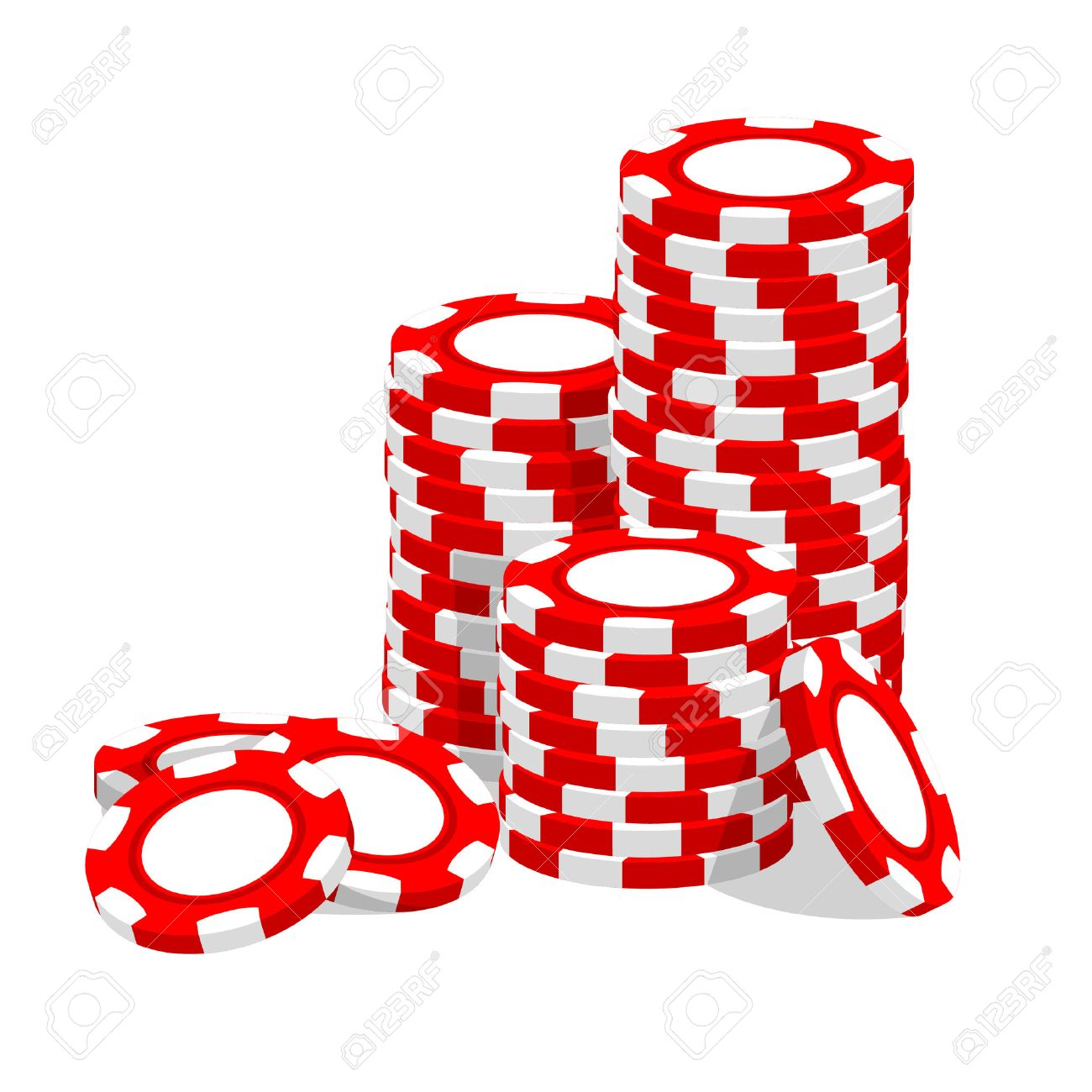 Traditional european roulette table vector illustration stock vector - Casino Illustration Red Chips On White Stock Vector 7793471