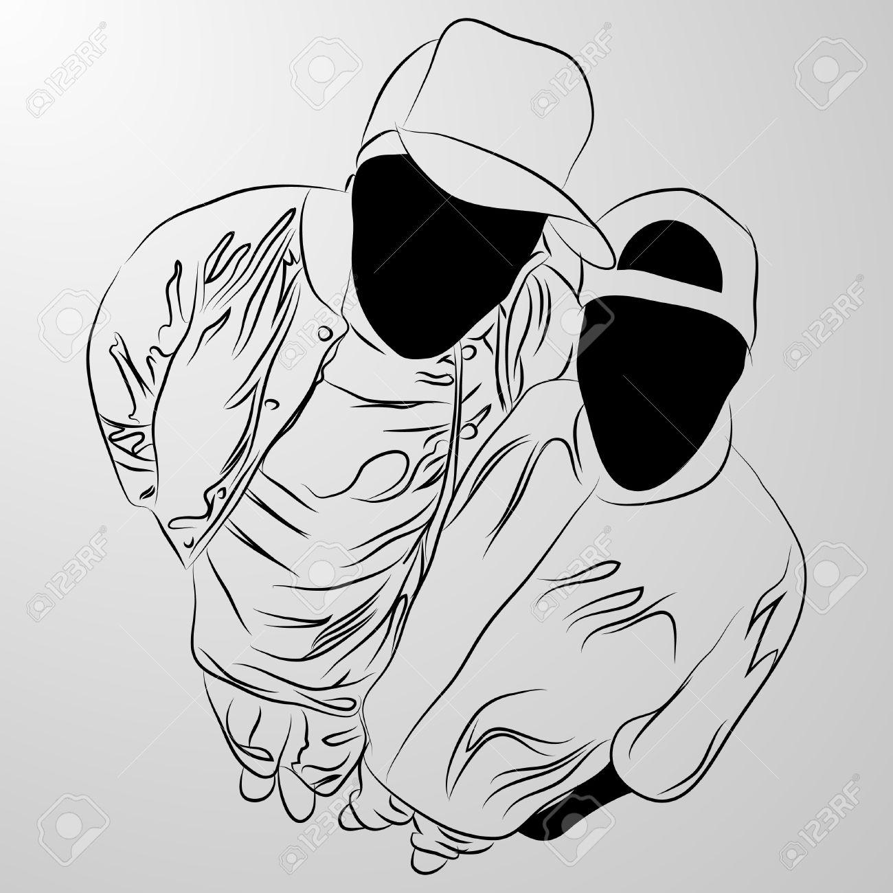 black man on white background (illustration) - 7830399