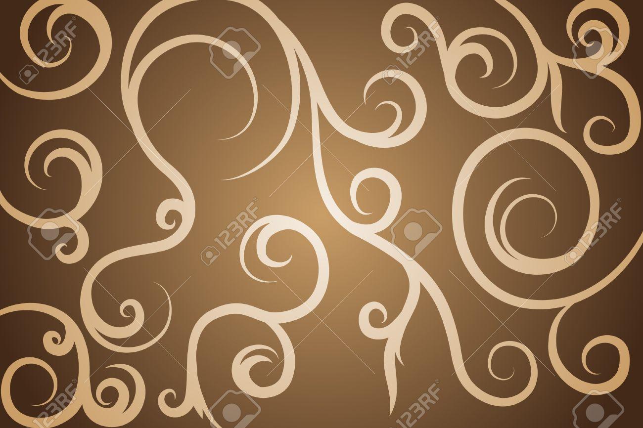 Black pattern on brown background (illustration) Stock Vector - 7926090