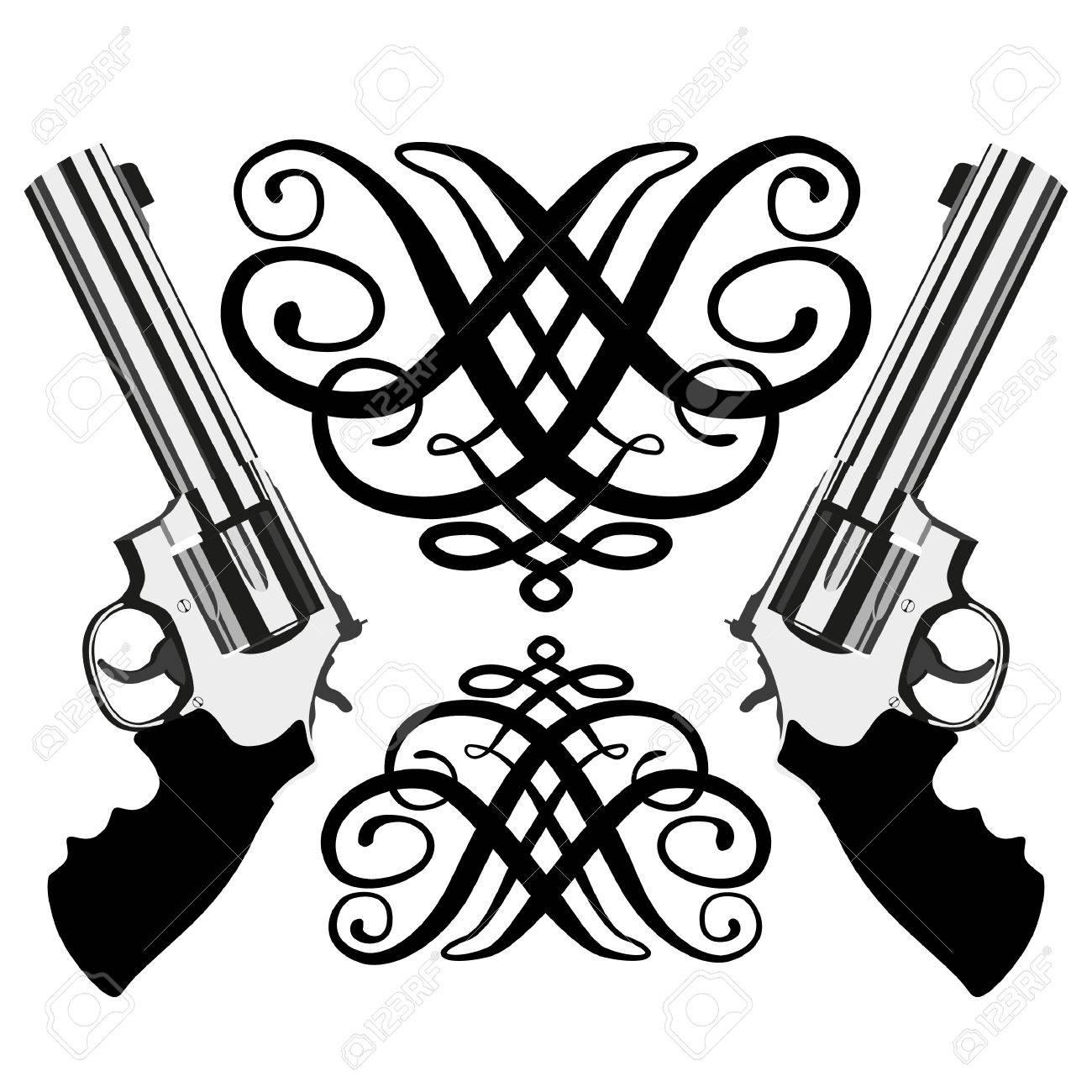 revolver magnum on white background (illustration) Stock Vector - 8301722