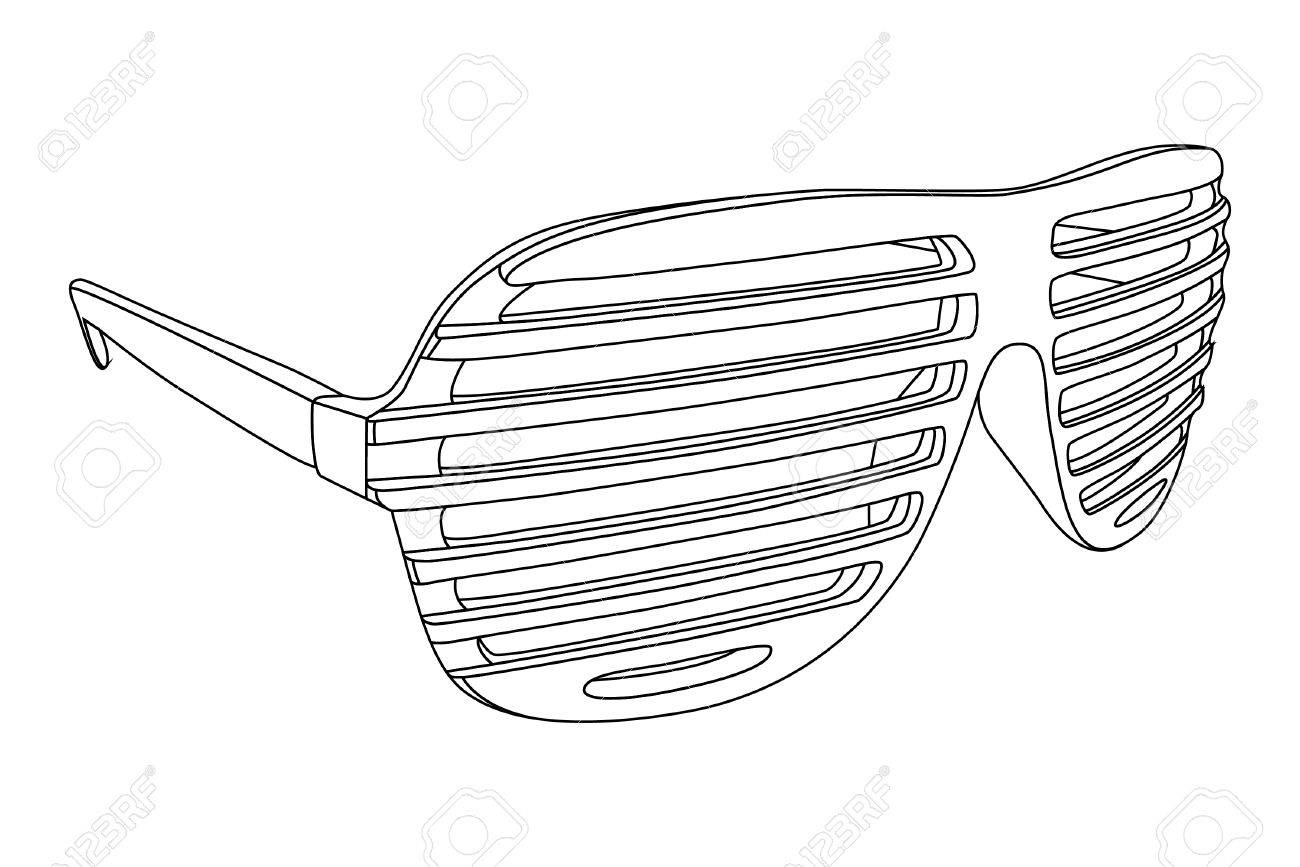 shutter shades on white background Stock Vector - 8302116
