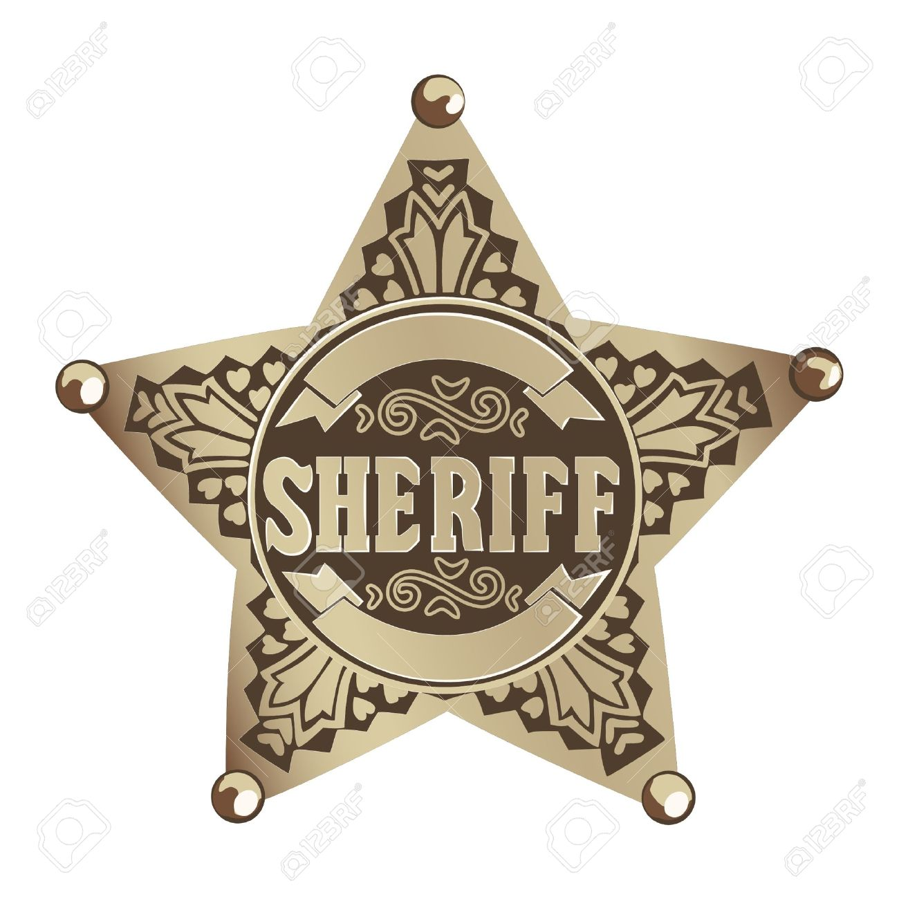 Sheriff Star Royalty Free Cliparts, Vectors, And Stock Illustration ...